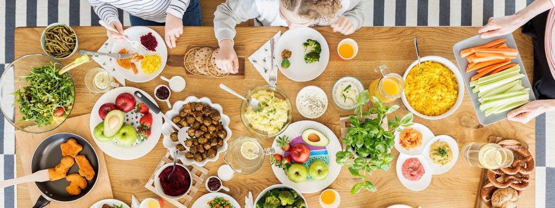 Disfruta platos nutritivos con tus hijos